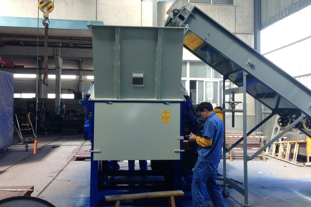 Stable Industrial Plastic Shredder Films Hard Materials Waste Injection Products