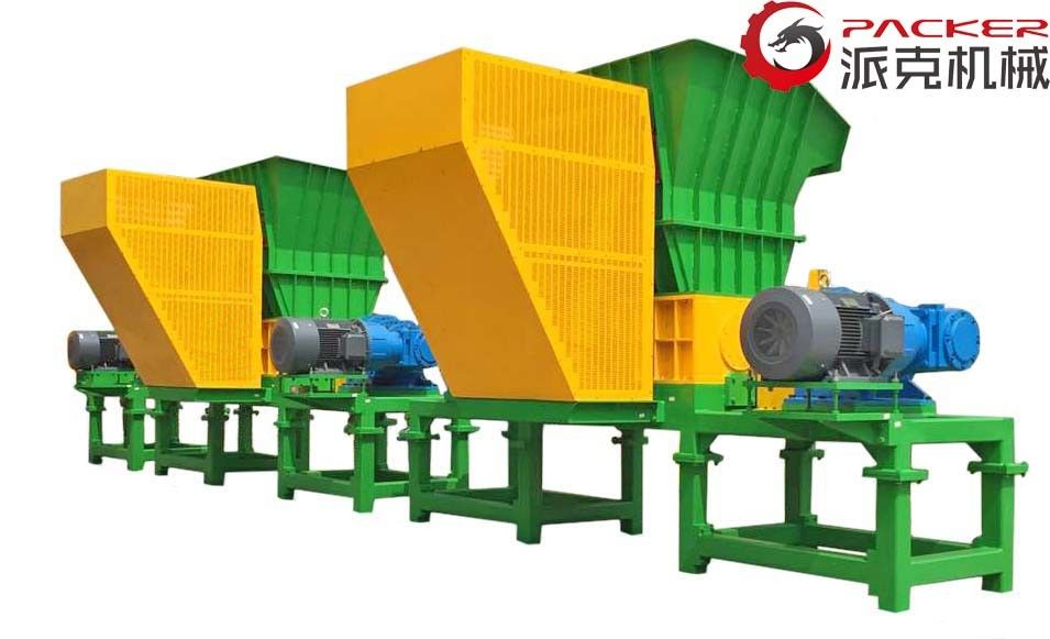 Biological Double Shaft Shredder Hydraulic Feeding Equipment 1720 X 1103 X 610mm
