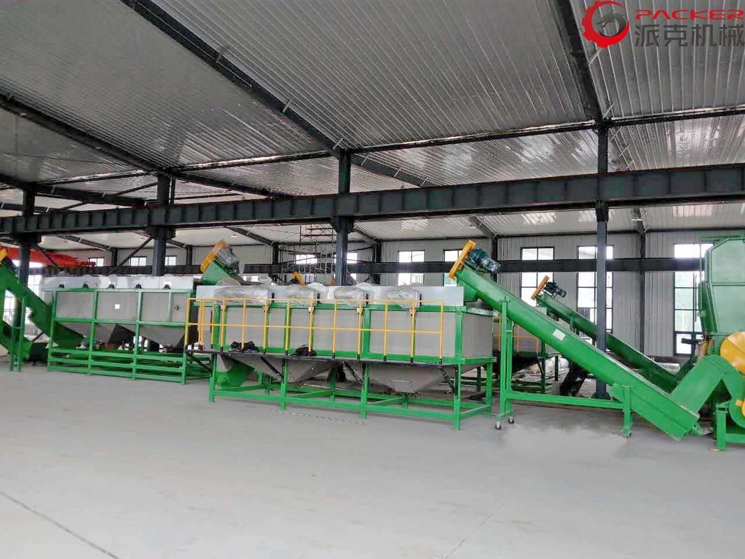 120KW Plastic Film Washing Line Waste PE Film Drying Regranulating Water Consumption 7