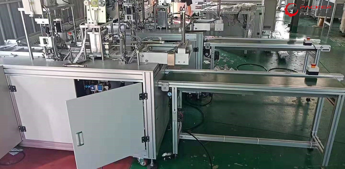 PLC Control Disposable Face Mask Machine , Medical Mask Making Machine Durable