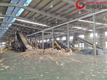 China 5-8 M3/Hour Plastic PET Bottle Recycling Machine Full Automatic With Dewatering Drying factory