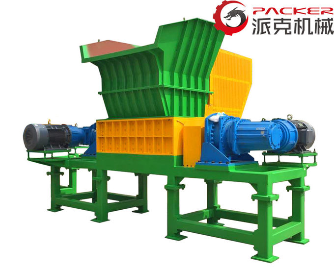 High Torque Industrial Plastic Shredder Low Power Consumption Production Waste